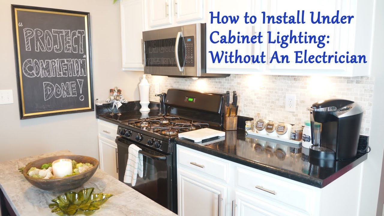 Exceptionnel How To Install Under Cabinet Lighting: Without An Electrician