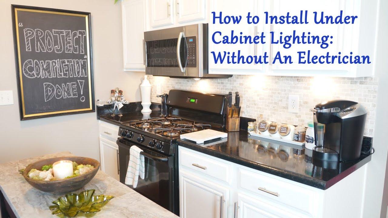 Installing Under Cabinet Lighting Electrical Online