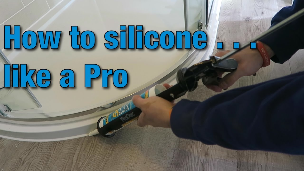 How to install & apply silicone caulk | Tutorial | Video ...