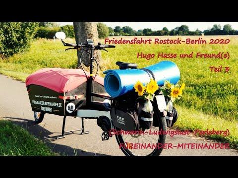 FRIEDENSFAHRT Rostock-Berlin (Teil 3), Hugo on Tour mit dem Rad, dritte Etappe Schwerin-Ludwigslust
