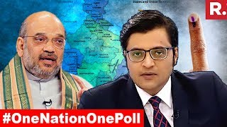 Joint Poll In 11 States Possible?   The Debate With Arnab Goswami