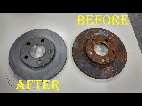 Fixing Rusty Brake Rotors With Evapo-Rust Solution