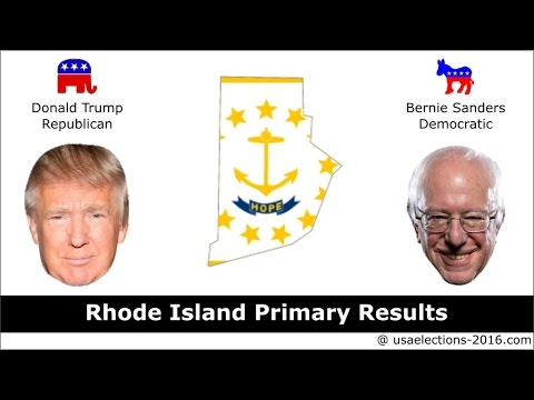 Rhode Island Primary Result 2016 : US Election 2016