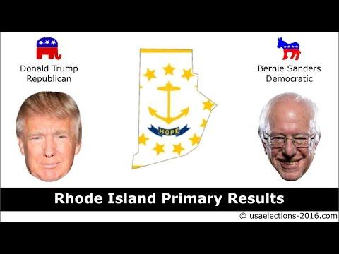 Rhode Island Primary Result 2016 : US Election 2016