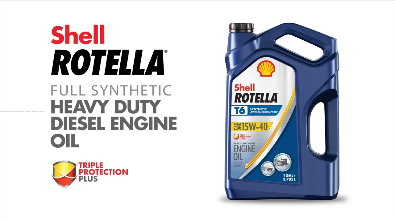 Syn Oil Shell Rotella T6 15w 40 Full Synthetic Motor Oil Shell Rotella