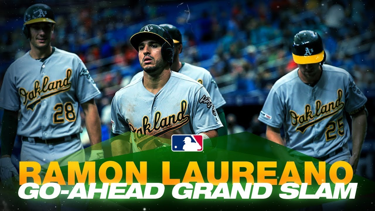 Ramon Laureano crushes a grand slam to put A's on top in the 8th