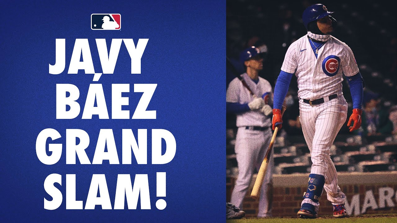 Javy Báez puts the Cubs up by 10 with his grand slam!