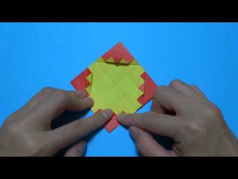 ハート 折り紙 折り紙 箱 正方形 : popmatx.com