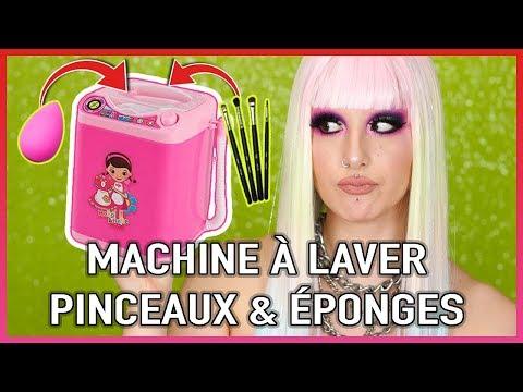 MACHINE À LAVER POUR ÉPONGES & PINCEAUX MAQUILLAGE 🤔 | Crash Test Mini Makeup Washing Machine thumbnail