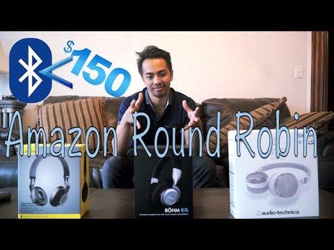 Amazon Round Robin: Bluetooth Headphones Under $150 (Jabra Move, Bohm B76, Audio Technica ATH-SR5BT)