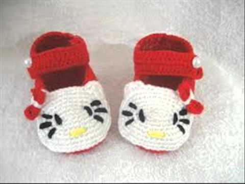 Easy Color Cat Pattern Cute Baby Booties Hand Knitting Youtube
