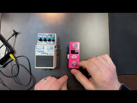 Disaster Area micro.clock Setup with Boss Delay Pedals