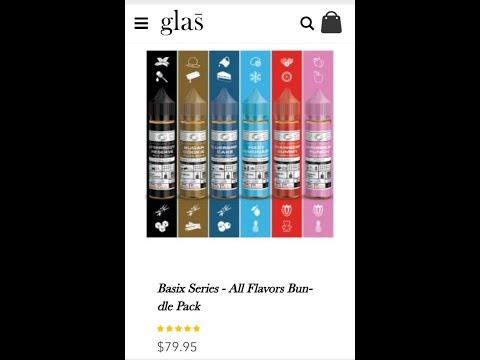 n.devine live eliquid juice review- glas vapor basicx line