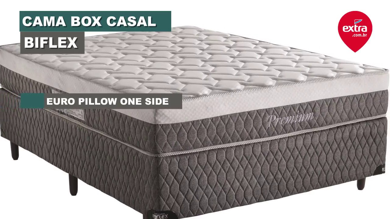 41b361726 Conheça a Cama Box Casal Biflex Colchão Casal Biflex Premium Extra ...