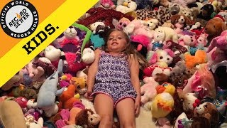 Most Stuffed Animals In A Bedroom (World Record!)
