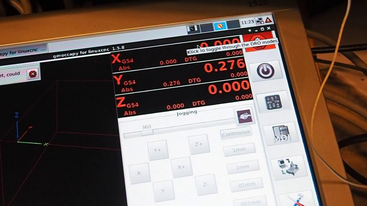 MAHO 400E LinuxCNC retrofit, first glass scale read out