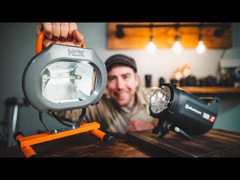 $20 Work Light VS $900 Studio Strobe Food Photography Lighting On A BUDGET!