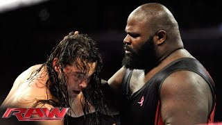 Mark Henry vs. Bo Dallas: Raw, Oct. 6, 2014