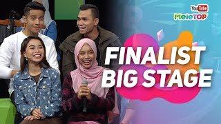 Finalist Big Stage berada di MeleTOP   Afieq Syazwan , Syafiq Farhain,  Wanie Kayrie, Sarah Suhairi