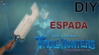 Como fazer a espada do caçador de Trolls- DIY TROLLHUNTERS NETFLIX