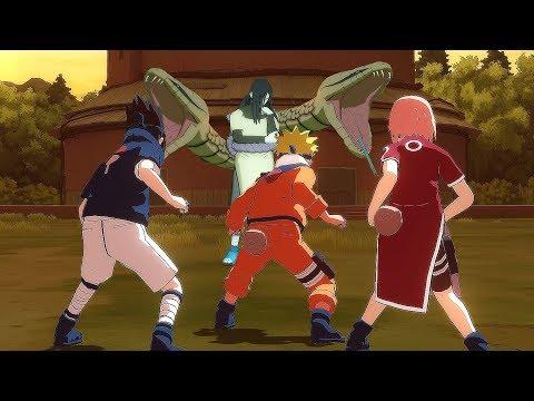 Team 7 vs Orochimaru & Forest of Death Race