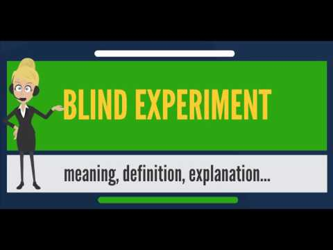 Single blind experiment