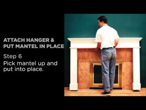 Affordable Fireplace Mantels - Easy To Assemble Instructions