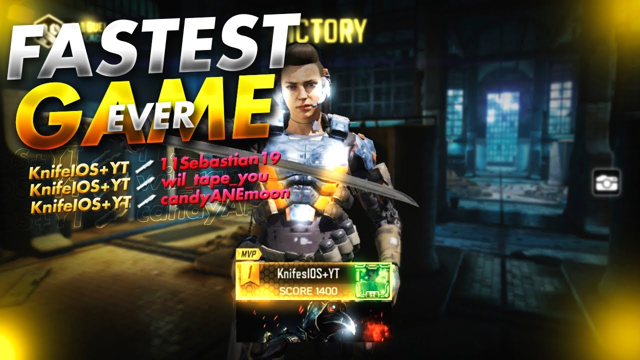 I OWN *ANOTHER WORLD RECORD!* FASTEST *STICKS AND STONES* GAME EVER (1:10) | Call of Duty Mobile