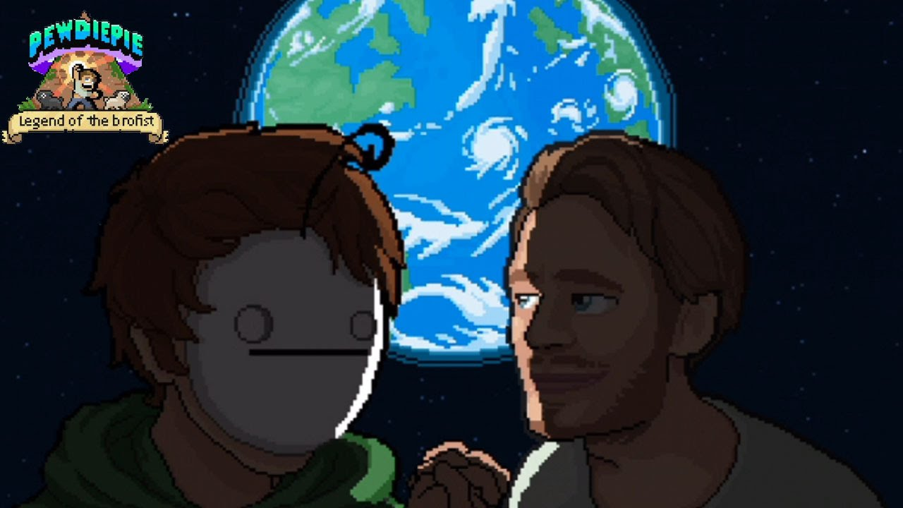 Pewds & Cry Lovin' On The Moon! - Pewdiepie LEGEND OF THE ...  Pewds & Cry Lov...