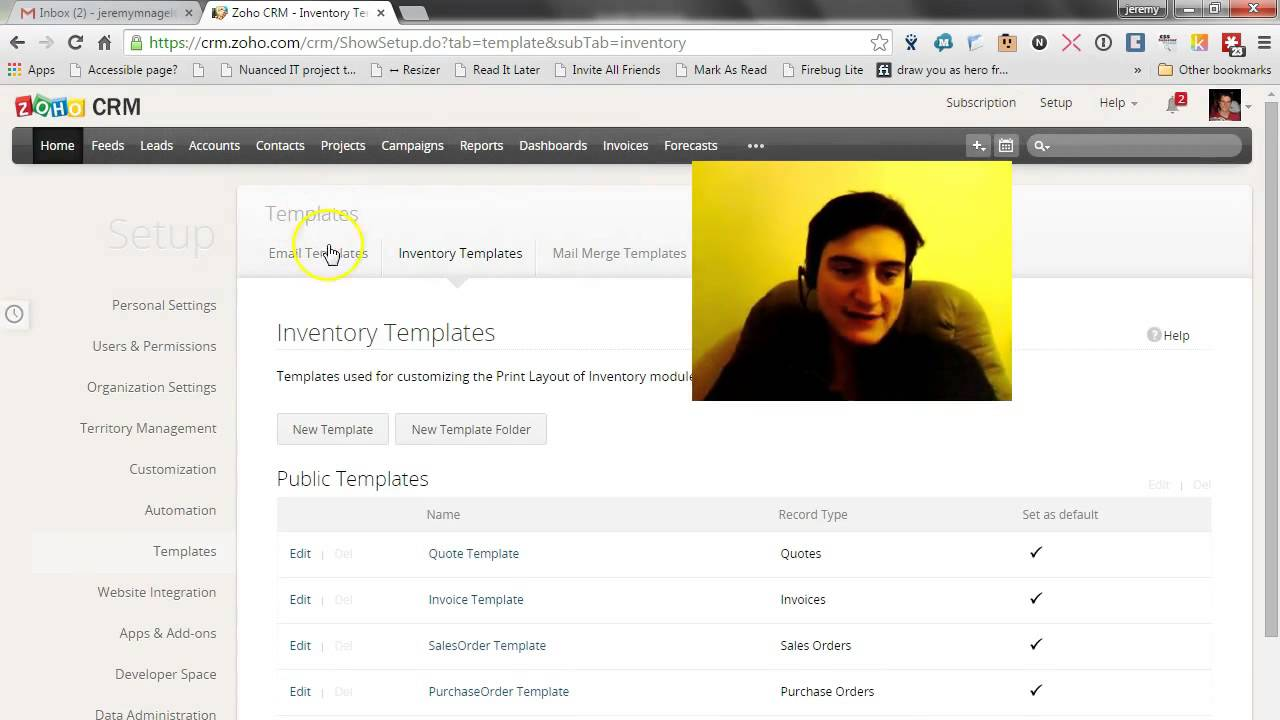 modifying invoice templates in zoho crm - youtube, Invoice examples