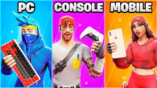 *NEW* Fortnite PC vs CONSOLE vs MOBILE!