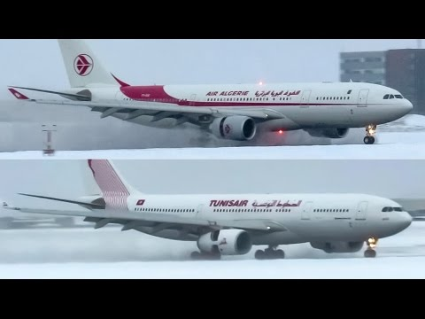 *Two African A330's* Air Algérie & Tunisair A330-200 (A332) landing in Montreal (YUL/CYUL)