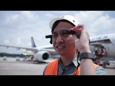 What are AR glasses doing on the Changi Airport tarmac?