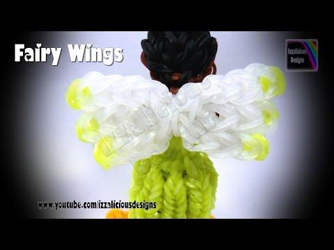 Rainbow Loom - Detachable Fairy Wings/Charm ©Izzalicious Designs 2014