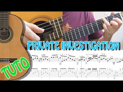 TUTO - PRIVATE INVESTIGATION - FINGERSTYLE SPANISH GUITAR