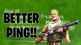 How to get BETTER PING IN FORTNITE MOBILE!