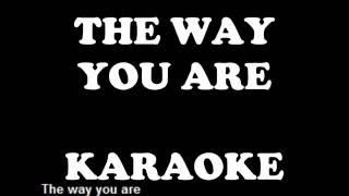 SECRET SERVICE the way you are karaoke playback backing track