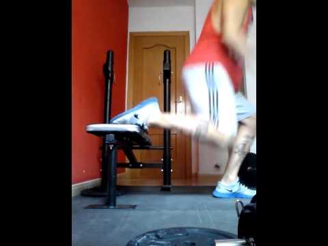 sentadilla bulgara con salto