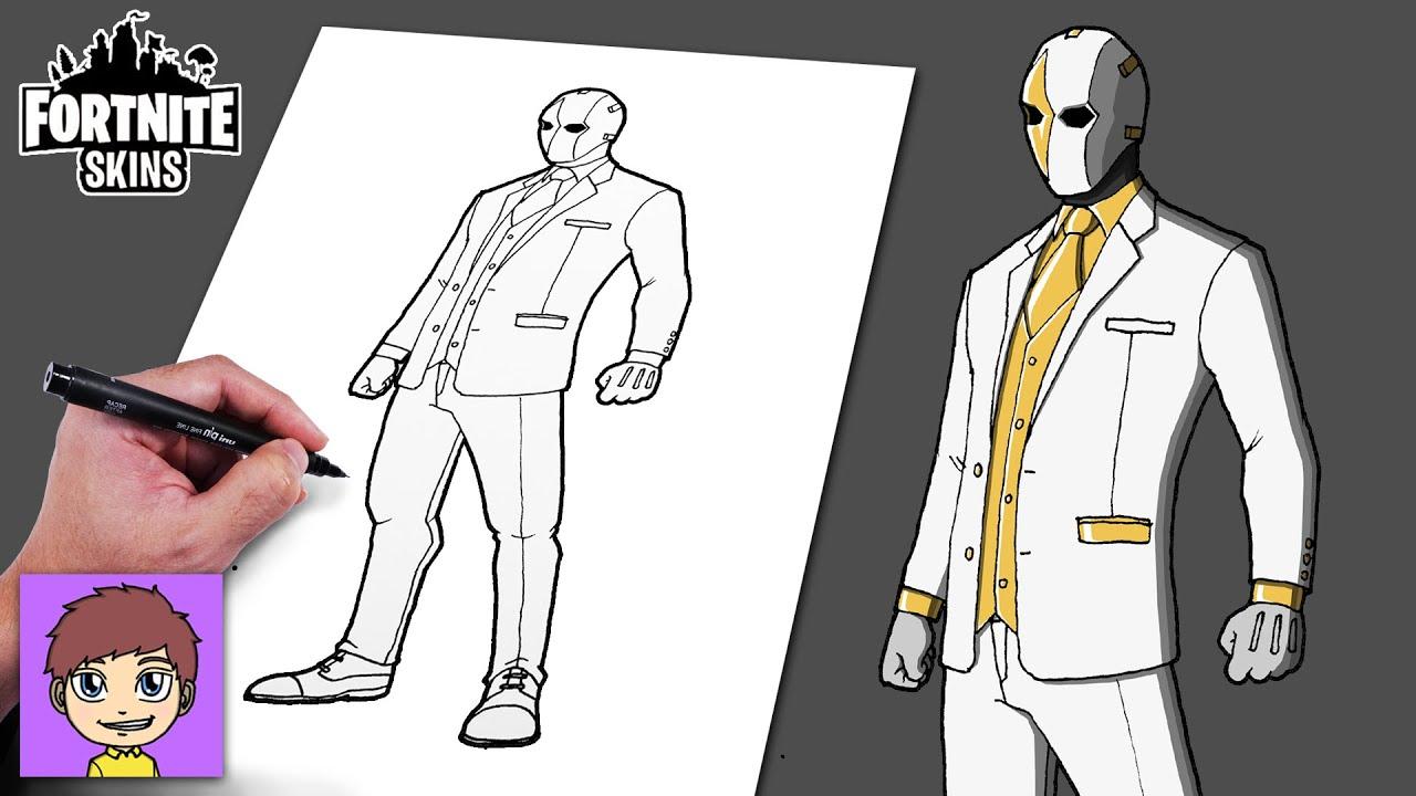 Como Dibujar Fortnite Ghost Wildcard Passo a Passo - Dibujos Faciles - Dibujos para Dibujar