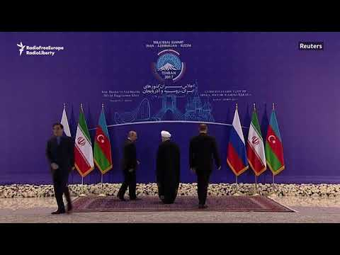 Presidents of Iran, Russia, and Azerbaijan Meet In Tehran
