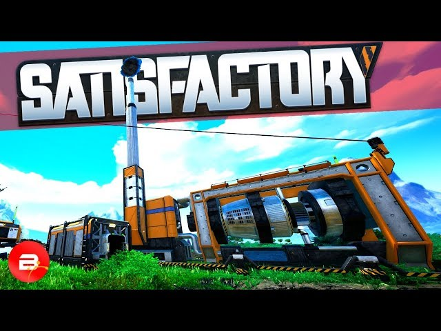 Setting up an Automated Coal Power Plant in Satisfactory! (Satisfactory Gameplay)