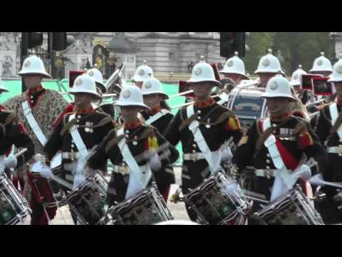 The Massed Bands of HM Royal Marines - The Mall, London - June 2012