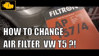 Air Filter Replacement VW T5 - How to replace engine air filter on VOLKSWAGEN T5