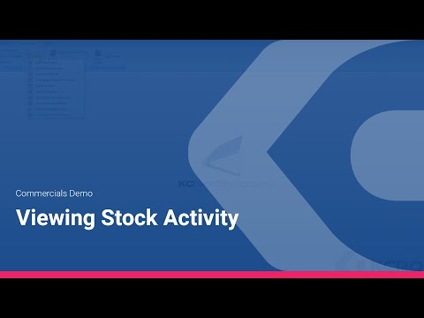 Commercials Demo - Viewing Stock Activity