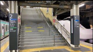 【まもなくバリアフリー化工事開始】JR常磐線我孫子駅構内の階段周辺を軽く撮影