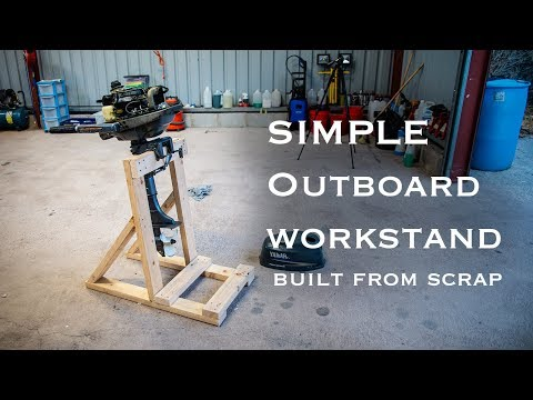 SIMPLE Scrap Wood Outboard Stand