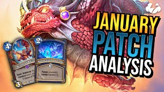 JANUARY PATCH ANALYSIS   Tempo Storm Hearthstone [Descent of Dragons]