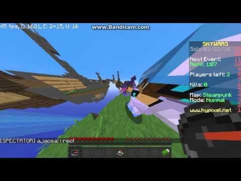 Fly Hack Minecraft Skywars (Hypixel) Solo Normal tranenman
