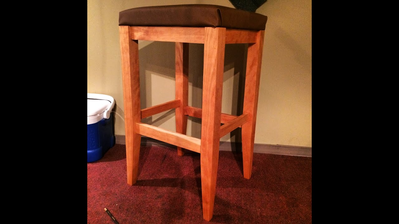 How To Make A Bar Stool Youtube