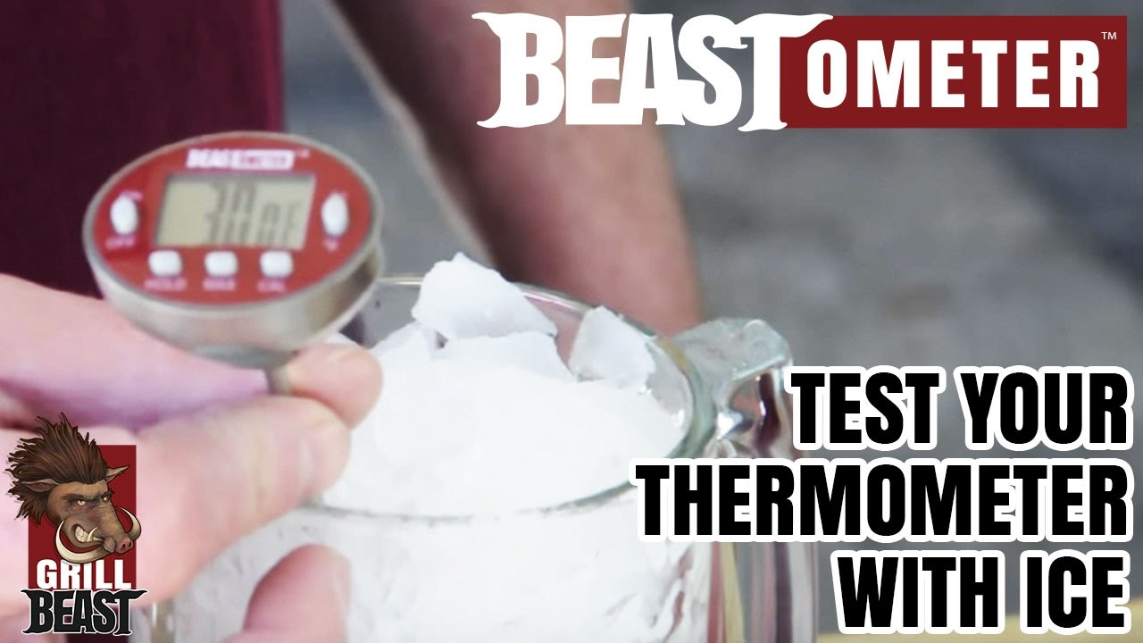 test your thermometer with ice the right way grill beast youtube